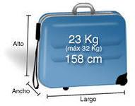 размеры бесплатного багажа