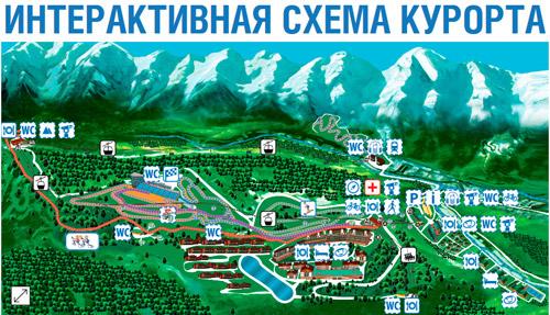 Карта ГТЦ Газпром