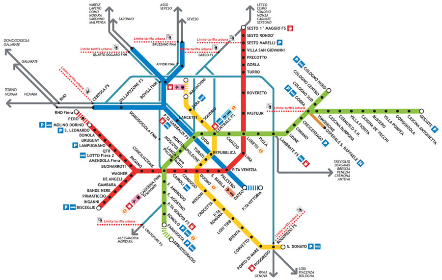 Схеме метро милана