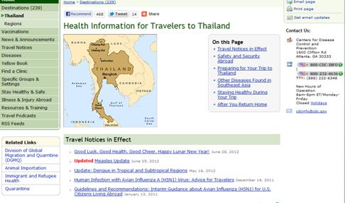 Прививки для поездки в тайланд