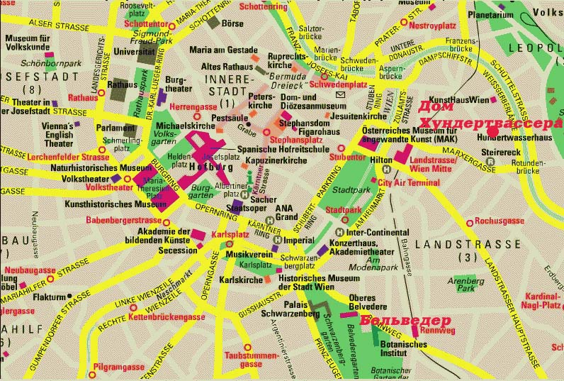 карта вены онлайн